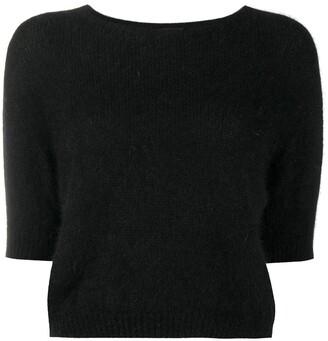 Roberto Collina Short-Sleeve Knitted Jumper