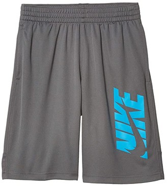 Nike HBR Shorts (Big Kids) (Iron Grey/Laser Blue) Boy's Shorts