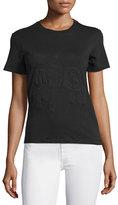 MSGM Short-Sleeve Stretch Logo Tee, Black
