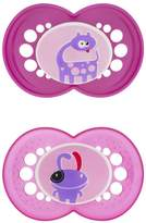 Mam BPA FREE Monsters 2 Pacifiers 6+months girl colors