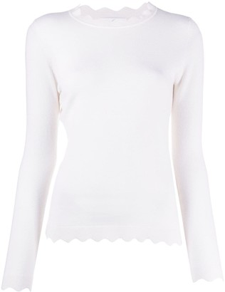 Allude Scalloped Hem Jumper