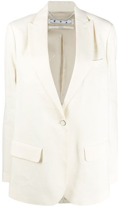 Off-White Front Button Blazer