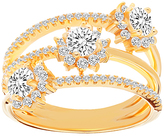 Bliss Cubic Zirconia & Gold Flower Openwork Ring
