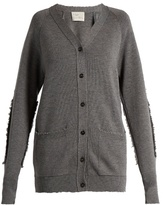 Hillier Bartley Distressed-edge Wool Cardigan