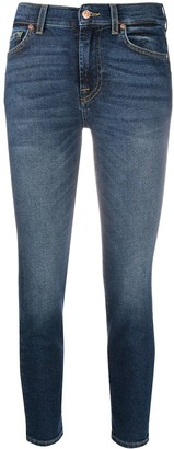 7 For All Mankind Roxanne mid-rise cropped jeans