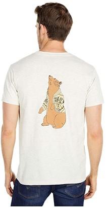 Pendleton The Dude Bear Short Sleeve Tee (Oatmeal Heather) Men's Clothing