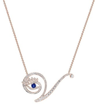 Tabayer Eye 18K Rose Gold, Diamond & Sapphire Victorious Pendant Necklace