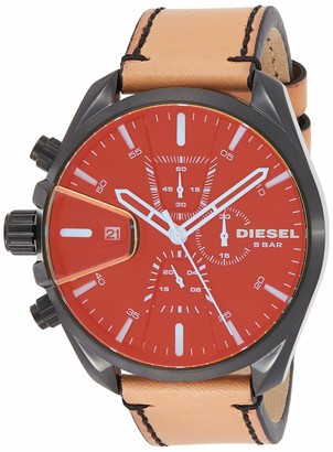Diesel Men's MS9 Chrono Quartz Leather Chronograph Watch