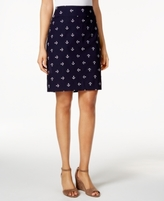 Charter Club Petite Embroidered-Anchors Pull-On Skort, Created for Macy's