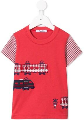 Familiar embroidered train T-shirt