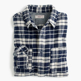 J.Crew Wallace & Barnes heavyweight flannel shirt in blue plaid