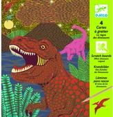 Djeco Dinosaur Queen Scratch Card