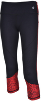 Therapy Red Mesh-Panel Performance Capri Leggings