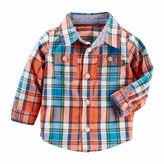 Osh Kosh Oshkosh Long Sleeve Button Front Shirt-Baby Boys