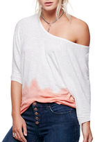 Free People Linen-Blend Dolman T-Shirt