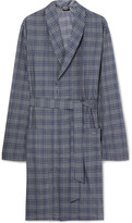 Hanro - Fynn Checked Cotton-flannel Robe