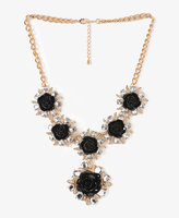 Forever 21 Rhinestoned Rosette Necklace