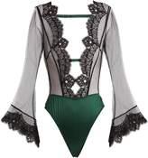 COCO DE MER Discotheque lace-trimmed bodysuit
