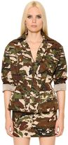 Alexandre Vauthier Camo Printed Cotton Twill Jacket