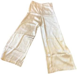 Ganni White Trousers for Women