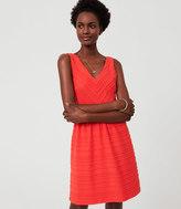 LOFT Scalloped Stripe Flare Dress