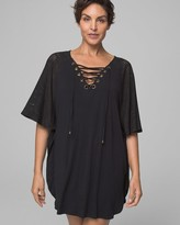 Dotti Grommet Lace Up Tunic Coverup