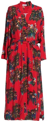 AILANTO Red Lilies Coat