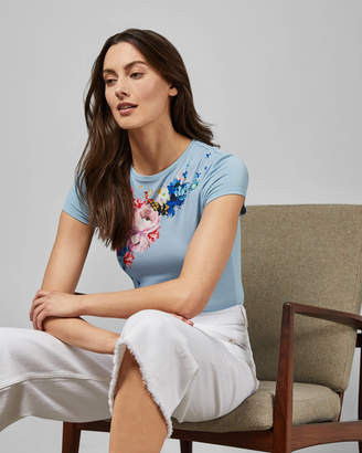 Ted Baker BANZRA Raspberry Ripple fitted tee