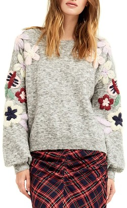 Boundless North Embroidered Daisy Sweater