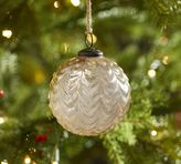 Pottery Barn Champagne Scalloped Mercury Glass Ball Ornament