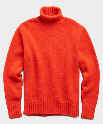 Todd Snyder Chunky Turtleneck in Red