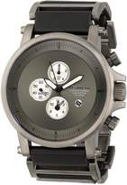 Vestal Men's PLE033 Plexi Gunmetal and Black Leather Watch