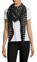 Saint Laurent Polka Dot Wool Scarf