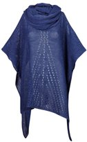 CAPRI MODA - Womens Open Knit Poncho Cape Top Jumper - PERLICZKA (, FITS ALL)
