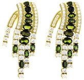 Judith Ripka Delfina Waterfall Earring, Green Tourmaline 6.69cts