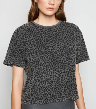 New Look Leopard Print Boxy T-Shirt