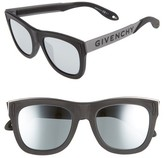 Givenchy Men's 52Mm Gradient Lens Sunglasses - Black Silver