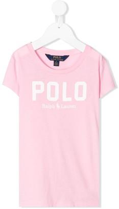 Ralph Lauren Kids crew-neck logo T-shirt
