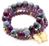 Good Charma Butterfly Charm Bracelets (Set of 4)