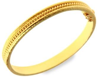 Elizabeth Locke 19K Yellow Gold Thin Braided Bangle