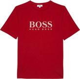 HUGO BOSS Logo cotton t-shirt 4-16 years