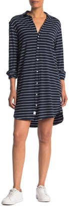 Frank And Eileen Mary Striped Relaxed Jersey Shirt Dress
