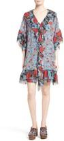 See by Chloe Women's Floral Flounce Tunic Silk Dress