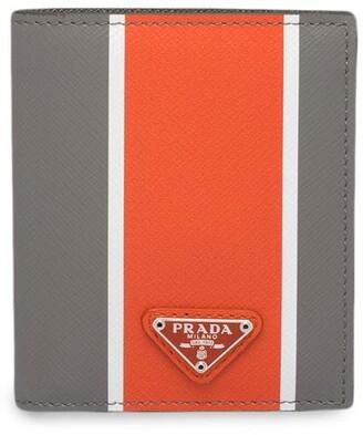 Prada Colour Block Bi-Fold Wallet