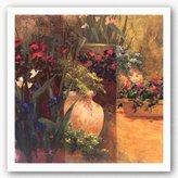 """Bentley Flower Pots Right by Art Fronckowiak 24""""x24"""" Art Print Poster"""