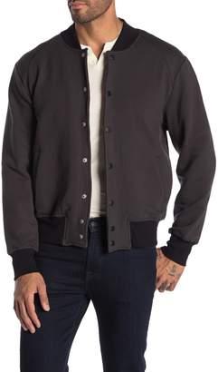 Joe's Jeans Jackson Terry Knit Letterman Jacket
