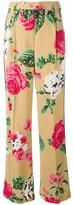 MSGM floral print trousers - women - Viscose/Polyester - 40