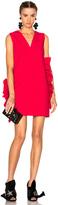 MSGM V-Neck Ruffle Dress