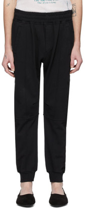 Haider Ackermann Black Embroidered Jogging Lounge Pants
