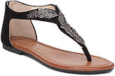 Jessica Simpson Kalie Suede Metallic Embellishment Flat Sandals